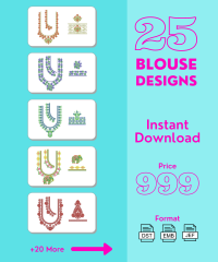 25 South indian blouse design pack vol-3