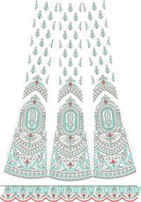 bridal lehenga kali  with lace