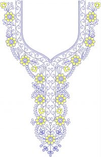 NECK GALA EMBROIDERY DESIGN