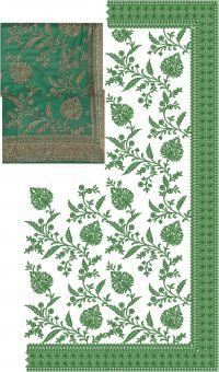 saree c pallu embroidery design