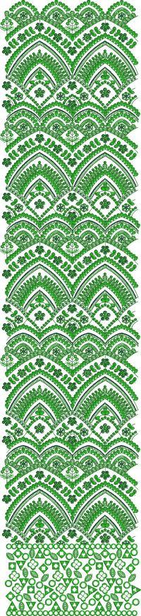 2 mm sequin allover garment embroidery design