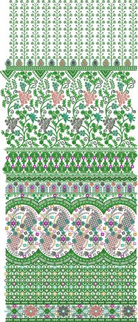 3mm SEQUIN GARMENT EMBROIDERY DESIGN
