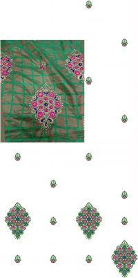 Saree  Pallu Skirt Embroidery desing