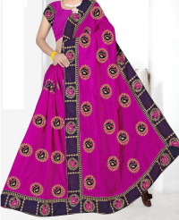 CHAIN BUTTA PALLU SKIRT LACE SAREE MBROIDERY DESIGN