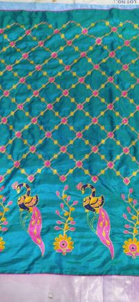 CHAIN PALLU SKIRT SAREE EMBROIDERY DESIGN