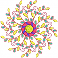 sequin butta  embroidery design