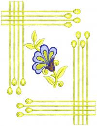 small unique butta embroidery design