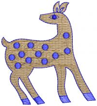 deer creative figure embroidery design