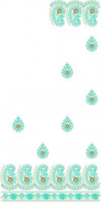 pallu - skt-lace jaree and dhagoo-cording