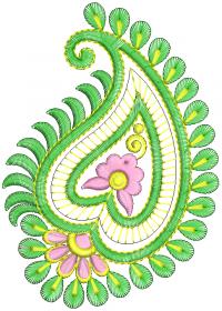 leaf creative embroidery design