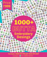 1000 Butta Designs, Instant Download All machine supported