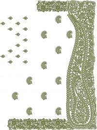 C pallu Tatami saree embroidery design