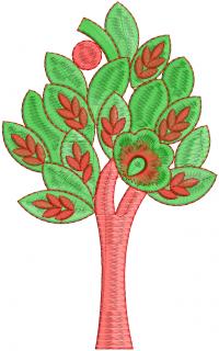 tree creative figure embroidery design