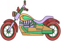 creative bike  embroidery design