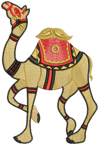 camel creative figure embroidery design