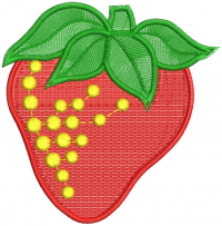 strawberry figure embroidery design