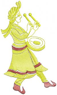 Classic Nagara Men Creative Figure Embroidery design