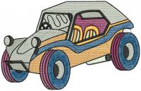 creative Jeep  figure embroidery  design