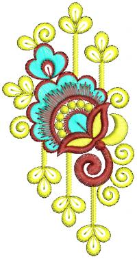unique flower embroidery design