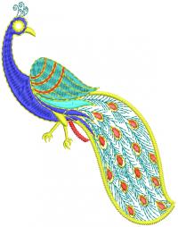 unique peacock  embroidery design