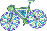 Creative Bicycle Embroidery Design