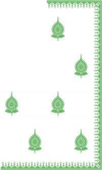 single jaree c-pallu saree embroidery design