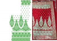 single jaree pallu-skt saree embroidery design