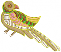 creative Parrot embroidery design