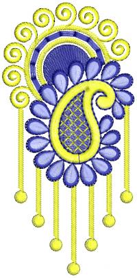 triangle butto embroidery design