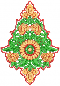 patch butto embroidery design