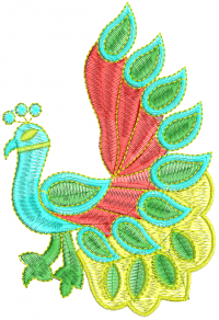 creative peacock feathers embroidery design