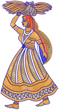 creative  agriculture women embroidery design