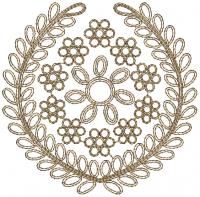 cording butta embroidery design