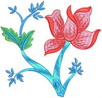 creative tree embroidery design