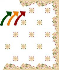 diamond test c pallu saree embroidery design