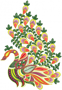 creative father  peacock  figure embroidery  design