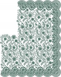 cutwork jaal c pallu design