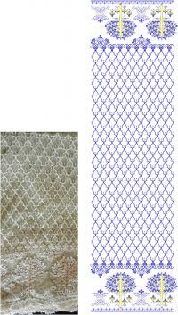 lakhnavi dupatta embroidery design