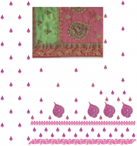 pallu skirt and lace paking panel saree embroidery design