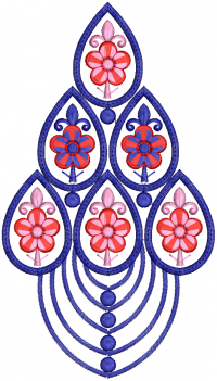 creative butta embroidery design