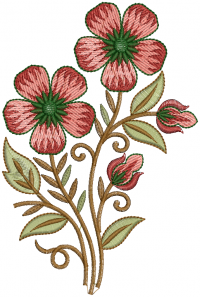 creative flower embroidery design