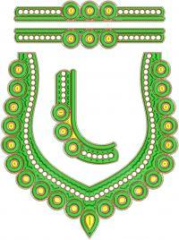 Cording Neck Embroidery design