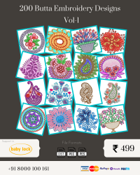 Vol-1, 200 Embroidery Butta Designs for Babylock Machine, Instant Download