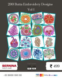 Vol-1, 200 Embroidery Butta Designs for Bernina Machine, Instant Download