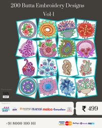 Vol-1, 200 Embroidery Butta Designs for Multi Needle Machines, Instant Download