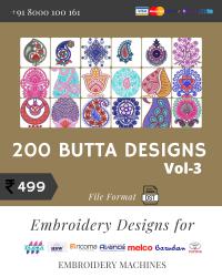 Vol-3, 200 Embroidery Butta Designs for Multi Needle Machines, Instant Download