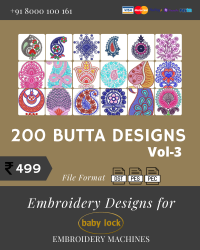Vol-3, 200 Embroidery Butta Designs for Babylock Machine, Instant Download