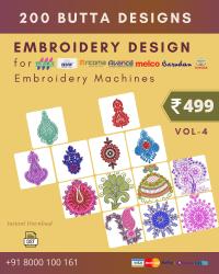Vol-4, 200 Embroidery Butta Designs for Multi Needle Machines, Instant Download