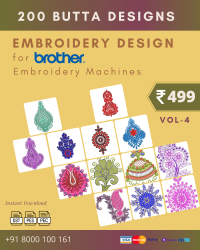 Vol-4, 200 Embroidery Butta Designs for Brother Machine, Instant Download