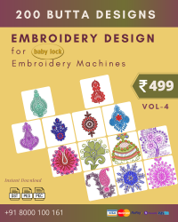 Vol-4, 200 Embroidery Butta Designs for Babylock Machine, Instant Download
